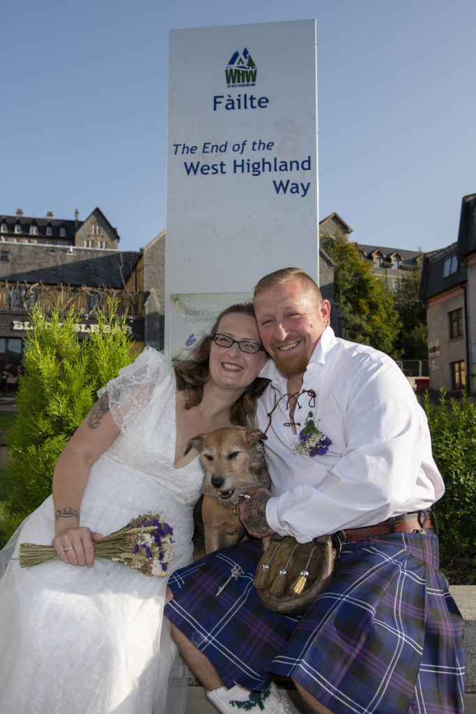 Appin couple tie the knot the West Highland Way