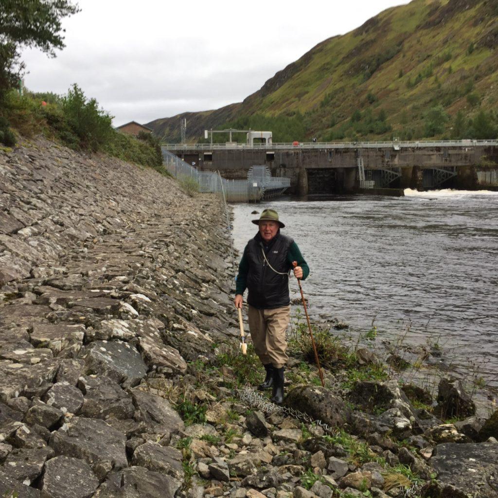 Rotarians enjoy fishing on River Awe