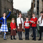 Pupils from the Glasgow Gaelic School gear up for Royal National Mod_2 Photograph: Paul Chappells.