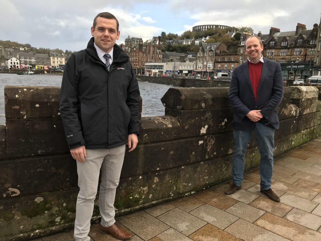 Douglas Ross visits Oban