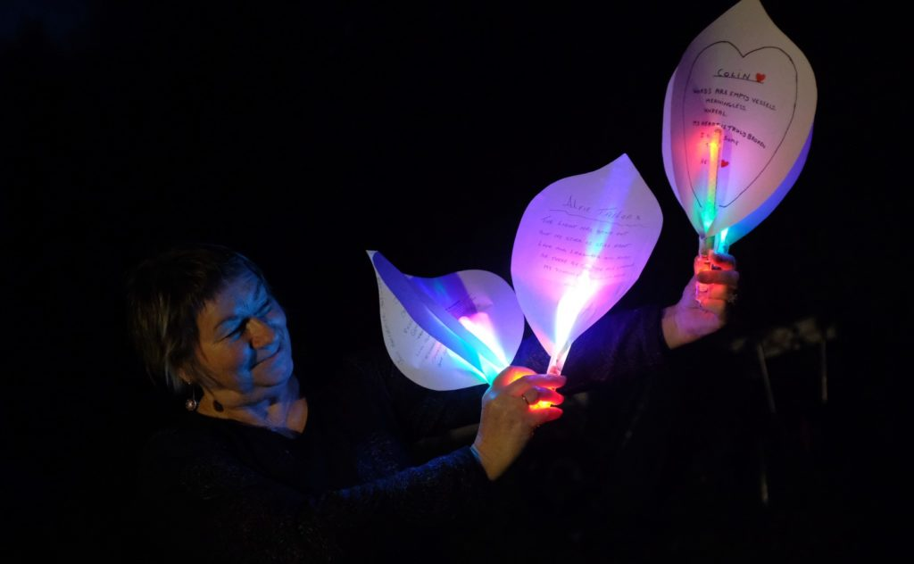 Lilies light up remembrance project