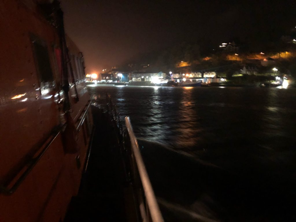 Cargo ship call out for Oban lifeboat