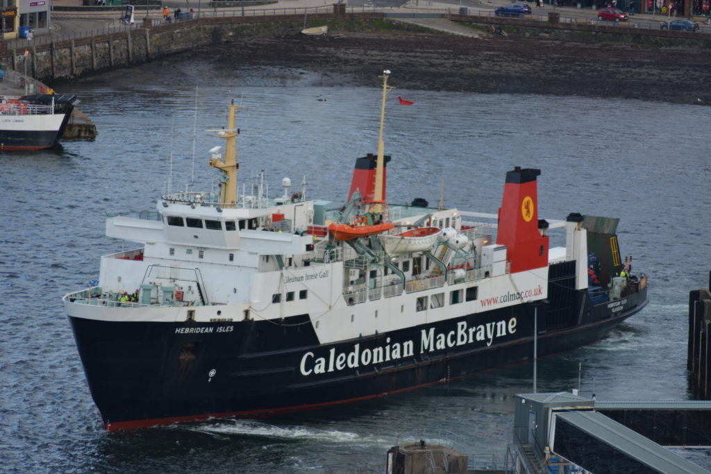 MV Hebridean Isles. pictured, is one of the six ferries which will have maintenance work carried out under the contract. STOCK_ferry_HEBISLES_FEB2019_calmac1_STEEVIE