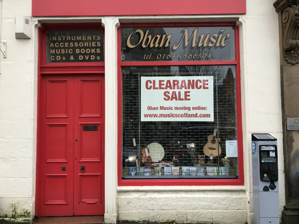 Independent Oban shop to shut and go online