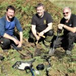 Paul Macdonald, Gary Burton and David McGovern made the discovery near Lochailort in September. NO F47 jacobite hoard 02