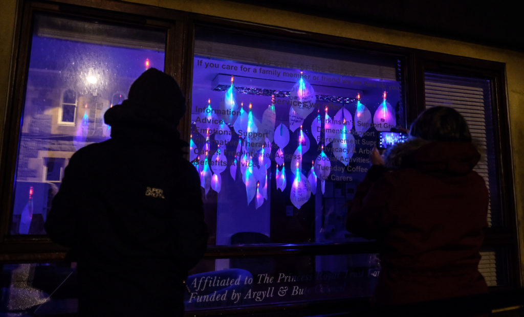 Lilies light up in Oban