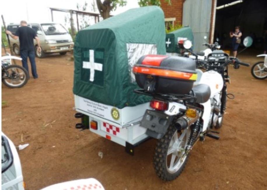 Oban Rotary's motorbike comes to rescue in Uganda
