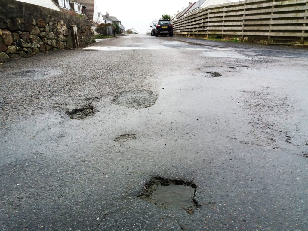 Residents have their fill of potholes