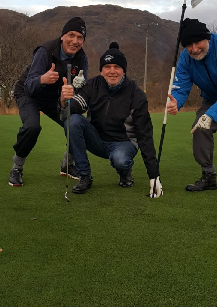 Hole in one joy for David