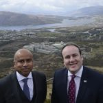 Sanjeev Gupta, Exec Chair GFG, with Paul Wheelhouse MSP above the Lochaber Smelter. PICTURE IAIN FERGUSON, THE WRITE IMAGE