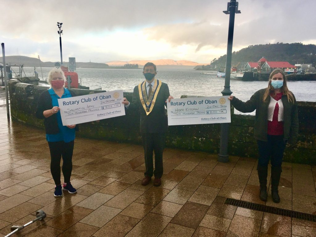 Oban Rotary boost for Salvation Army and Hope Kitchen