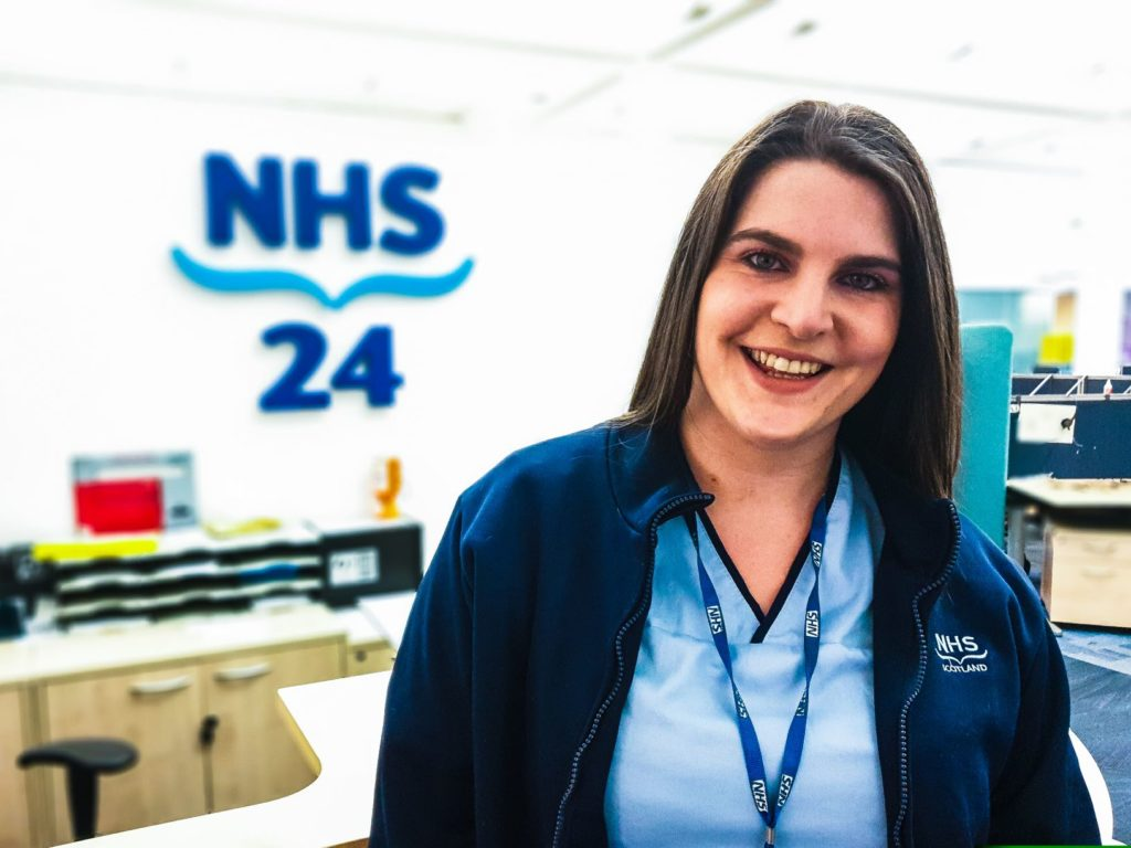 Sophie Ross, pictured, an NHS call handler from Arisaig, has been nominated for a national award. NO F52 Sophie Ross NHS24