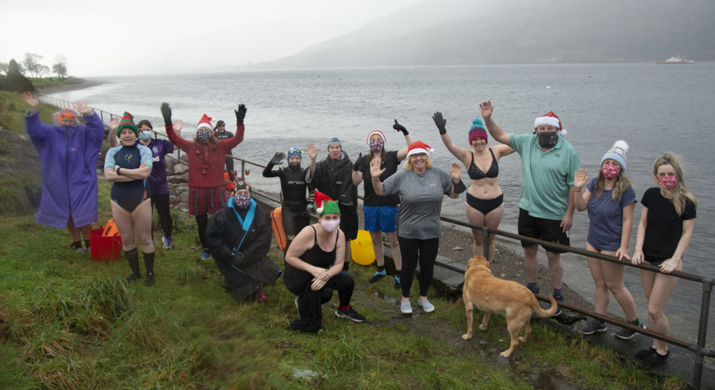 Chilly charity loch plunge for Belford staff