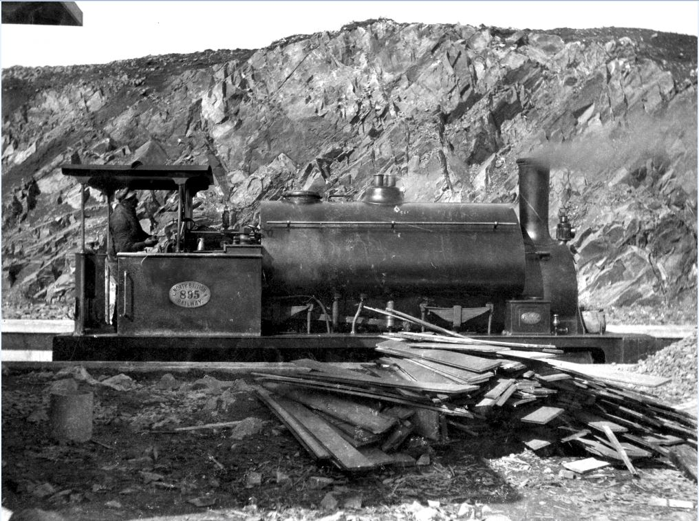 One of the unearthed photographs taken during the construction of the line and which feature in this week's BBC Alba programme. NO F53 Song of the Track 1