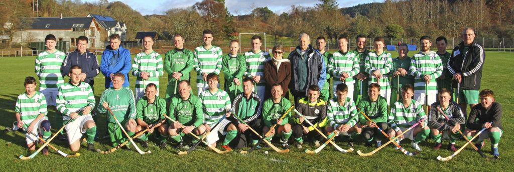 Oban Celtic's Old Crocks and Young Guns pictured before their annual Boxing Day match at Mossfield. However, this season the Oban club will field two teams in competitive games with the first team playing in the National Division and the second team taking part in South Division Two.