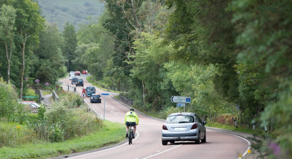 The A82, pictured, is the second deadliest road in Scotland when it comes to fatal road accidents. Photograph: Abrightside Photography. FW Traffic 01 no JP