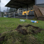 More damage was caused at the Claggan Park ground at the weekend. Photograph: Iain Ferguson, alba,photos NO-F04-Claggan-Park-vandalism.jpg