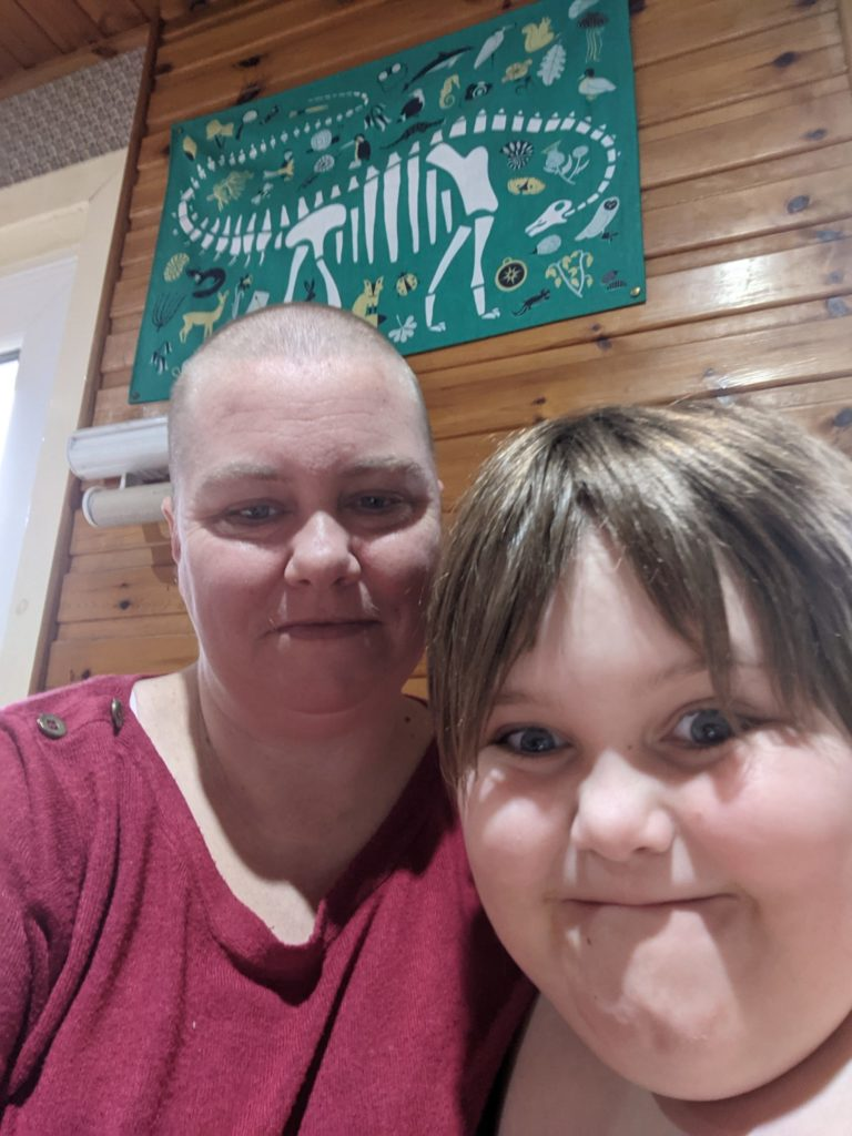 Cassie's close shave for cancer charity