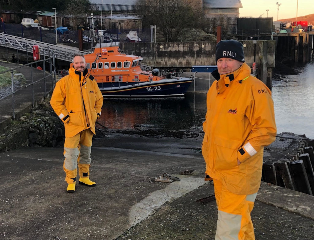 New recruits get onboard with Oban lifeboat
