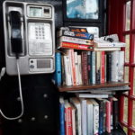 The phone box in Connel is used for a book swap scheme NO_T25_connelphonebox