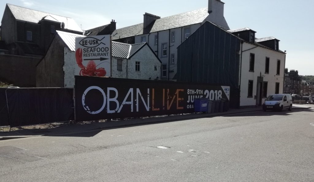 BID4Oban have tidied up the site of the former Argyll Hotel adjacent to North Pier.