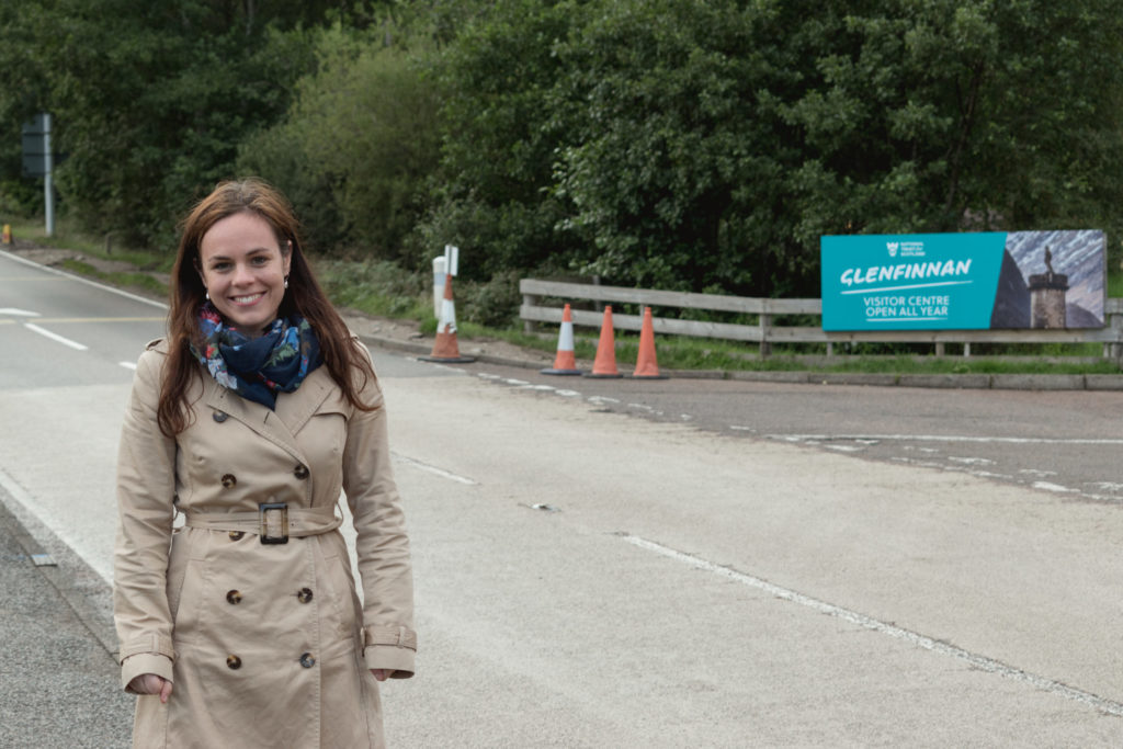 Lochaber constituency MSP Kate Forbes, pictured in Glenfinnan, which has already benefitted from a round of funding from the Rural Tourism Infrastructure Fund. NO F06 KF Glenfinnan NTS junction