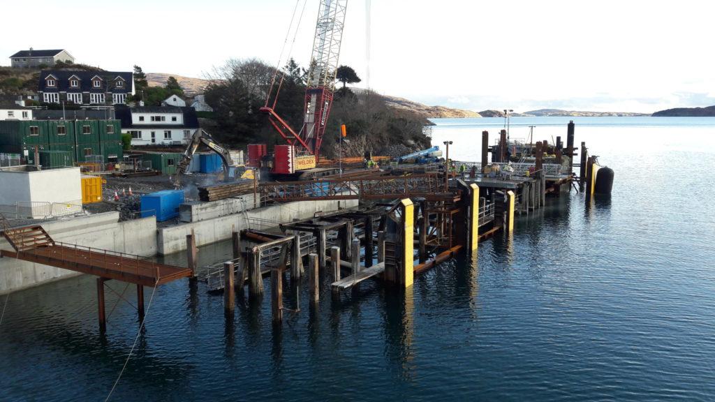 New pier taking shape at Tarbert Ferry Terminal