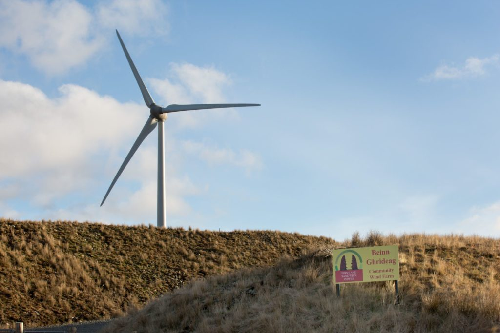 Community wind farm charity Point and Sandwick Trust on Lewis this week made the biggest one-off donation in its history. Photograph: Sandie Maciver of SandiePhotos. NO F16 wind farm cash