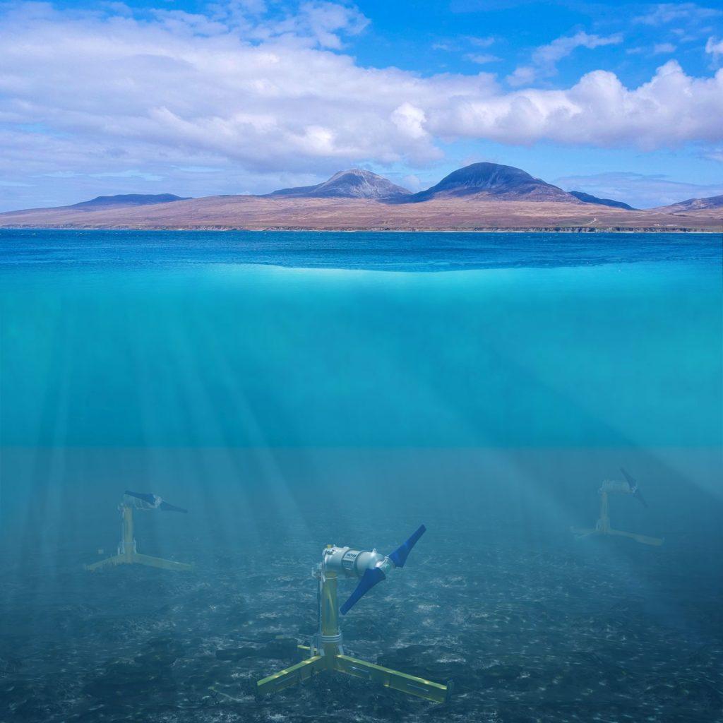 Underwater turbines to power island distilleries
