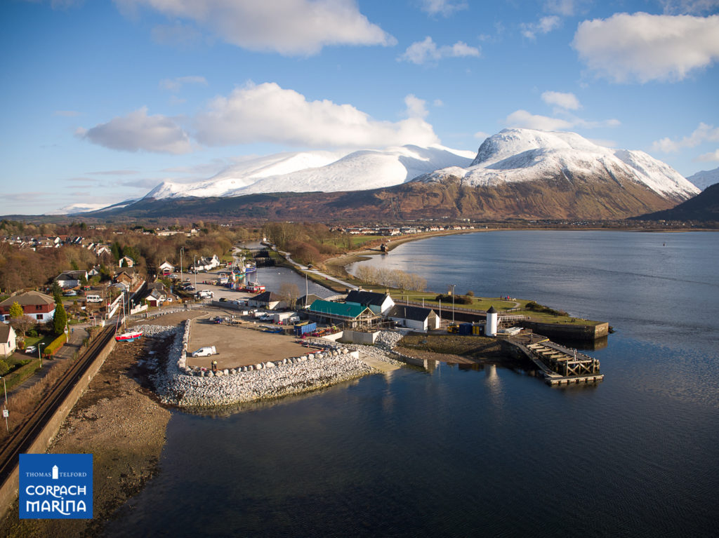 Corpach Marina on truck for summer completion