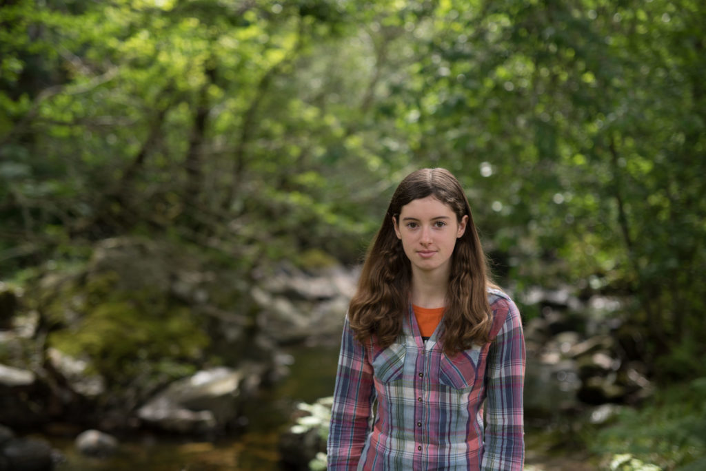 Lochaber climate change school striker and environmental activist Holly Gillibrand, pictured, will be one of those taking part in the radio programme for International Women's Day next week. Photograph: Anna Deacon Photography. NO F10 Holly Gillibrand