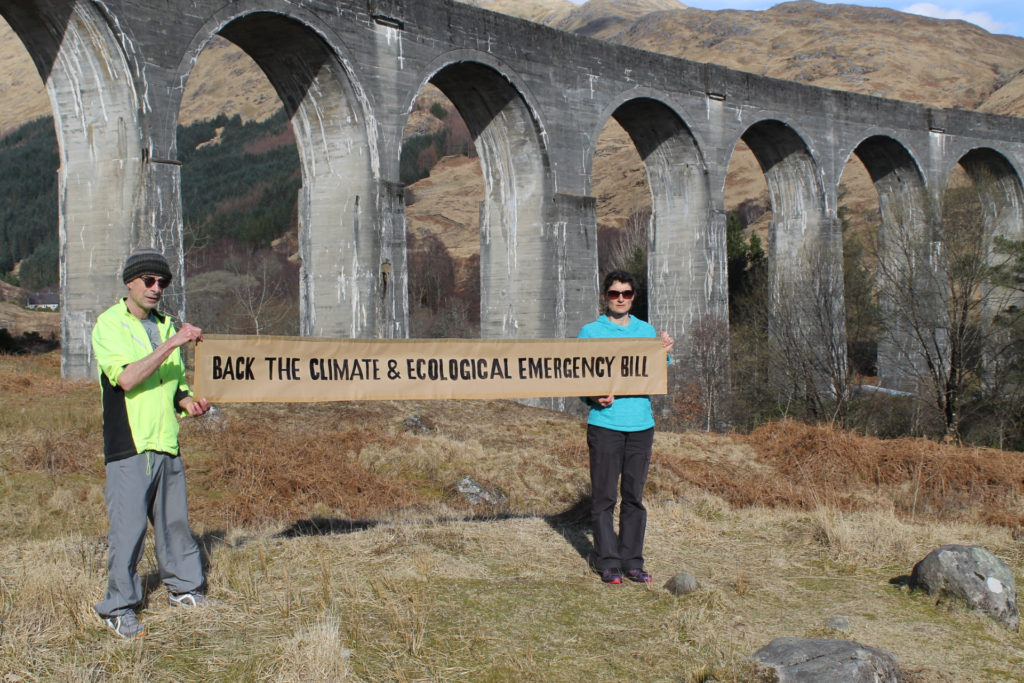 Glenfinnan site of weekend climate crisis banner protest