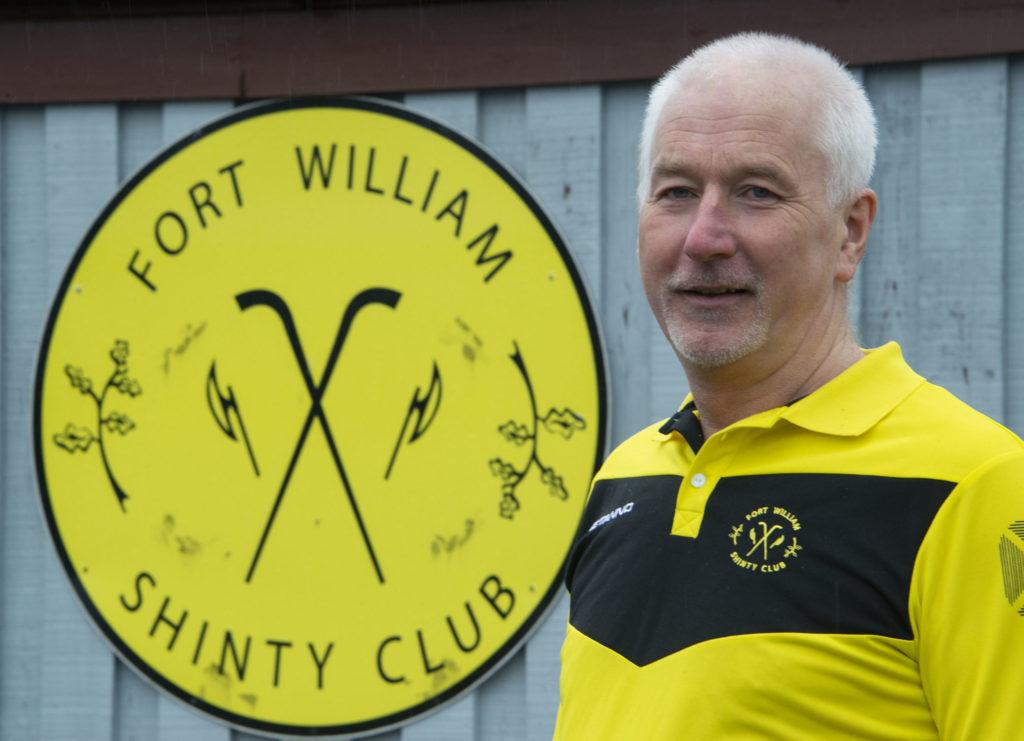 Willie MacDonald of Fort William Shinty Club. Photograph: Iain Ferguson, alba,photos NO F14 Willie MacDonald Fort Shinty 03