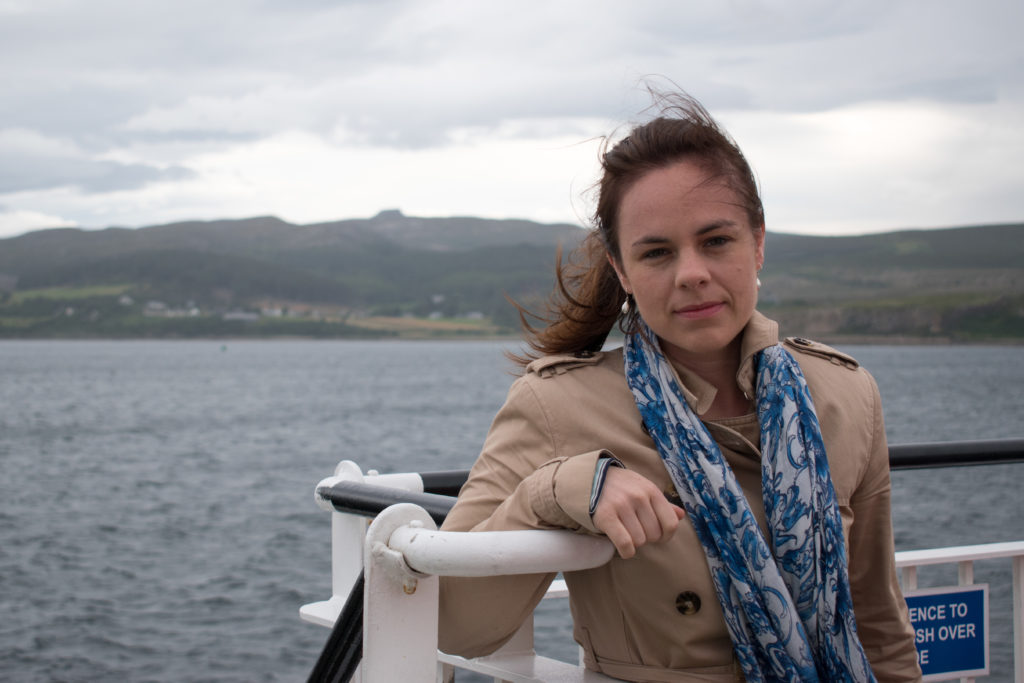 Local constituency MSP Kate Forbes says she is looking forward to seeing proposals from Scotland's housing minister to help tackle the issues.' NO F44 Kate Forbes on Raasay