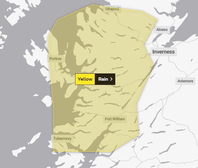 Heavy rain to last until Wednesday, warns Met Office