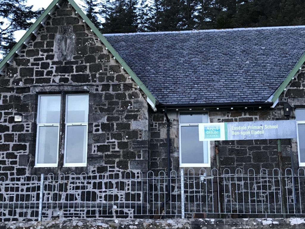 Island hall becomes temporary school