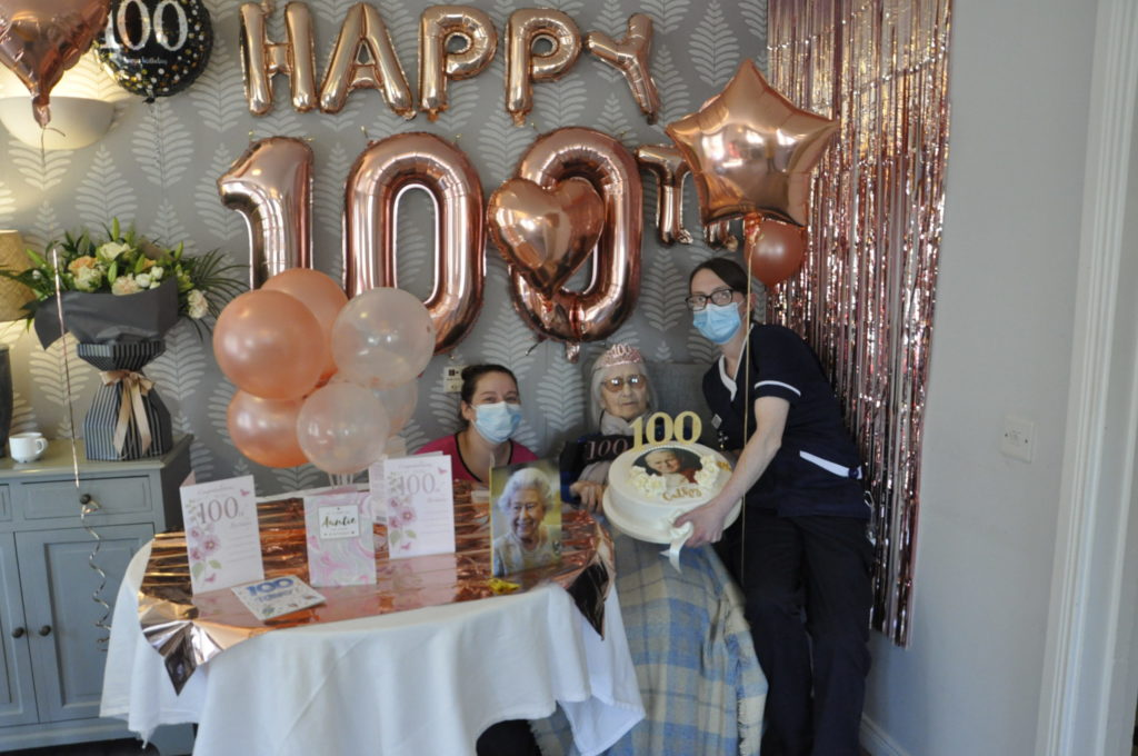 Centenarian Cathy enjoys birthday fit for a queen