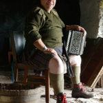 Musician Fergie MacDonald in the blackhouse beside his home at Mingarry. Photograph: Iain Ferguson, alba.photos NO F02 Fergie Macdonald 04