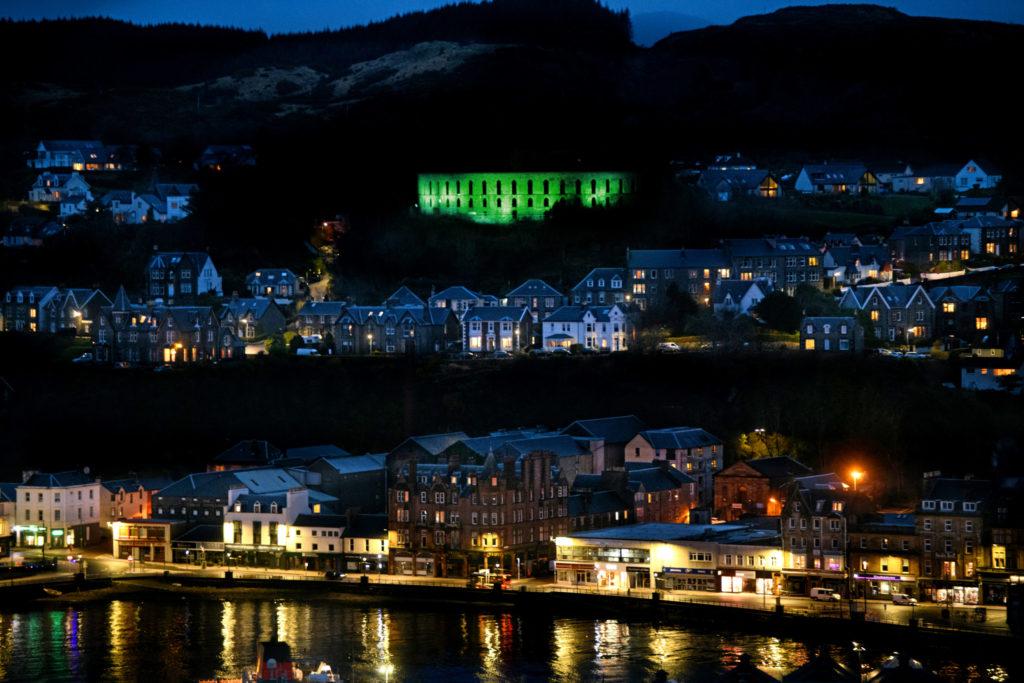 McCaig's Tower blue as lights fail to go green
