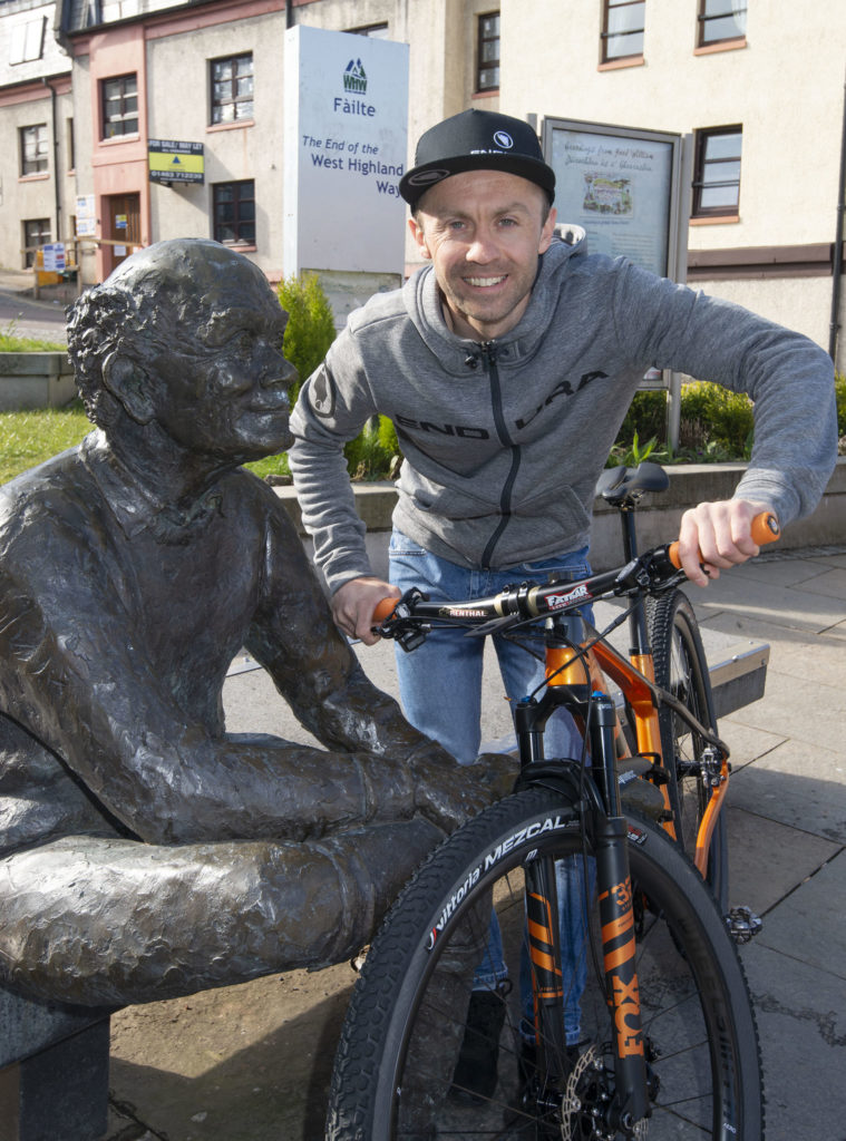 Gary's on cloud nine after smashing WHW cycling record