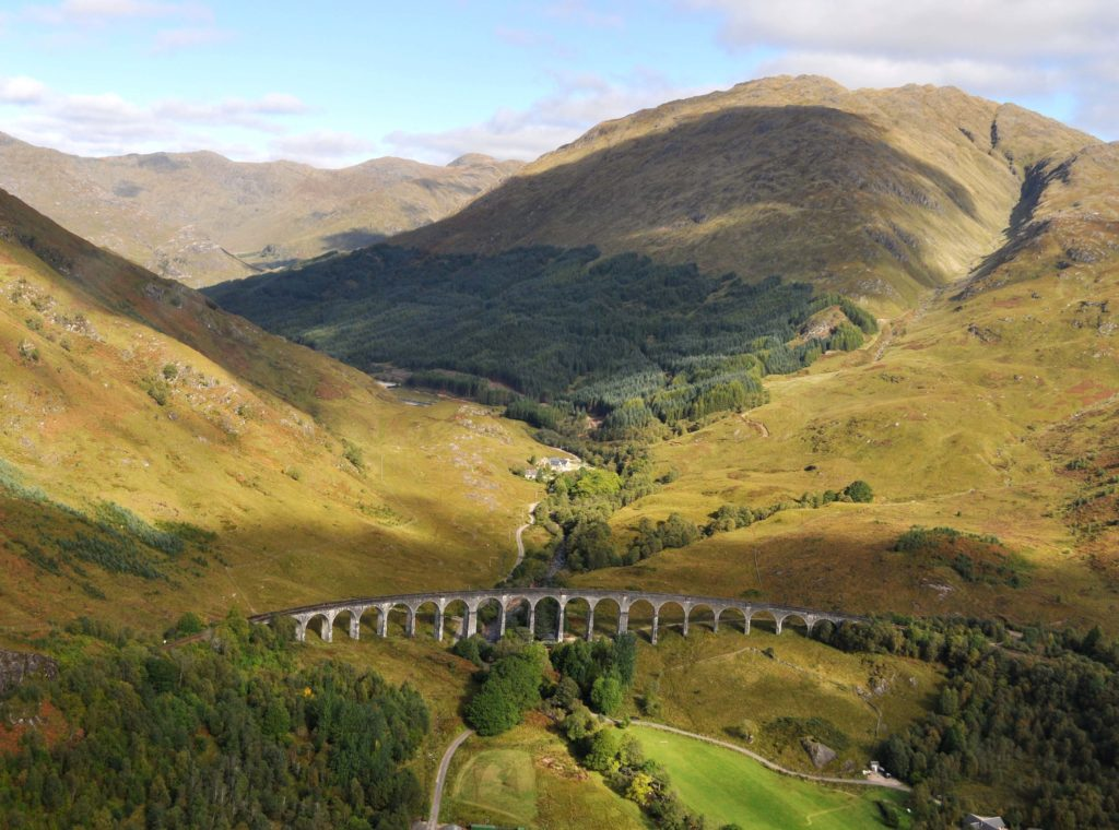 The West Highland Line at Glenfinnan. Photograph: Iain Thornber
