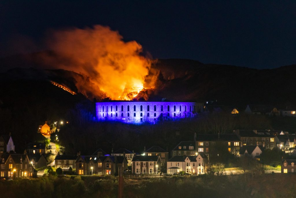 Oban wildfire raged for hours