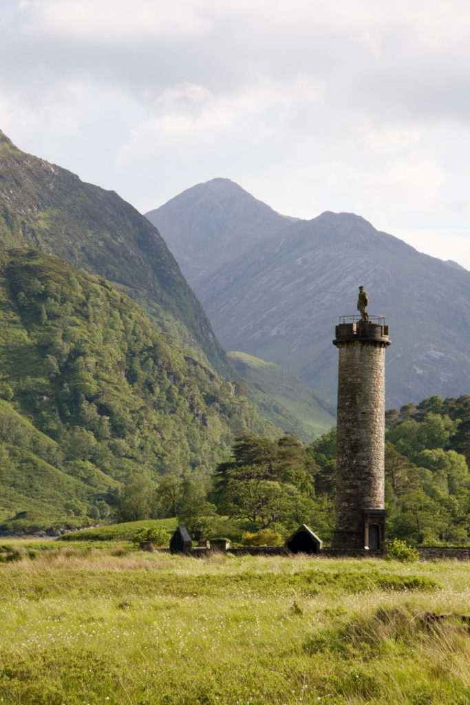 A view of the Glenfinnan Monument. Glenfinnan-monument-scaled.jpg