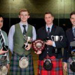 Lochaber Gathering adult winners were, from left, Andrew K Lewis, Sandy Cameron, Sean McKeown and James McHattie. NO F35 Lochaber gathering festival adult winners