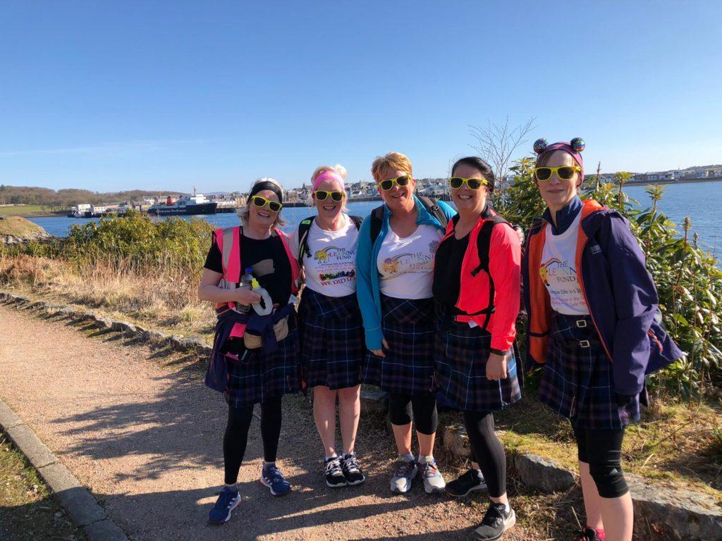 Kiltwalkers raise phenomenal total for Leanne Fund
