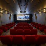 The 80 seat Screen Machine tours cinema around Scotland.
