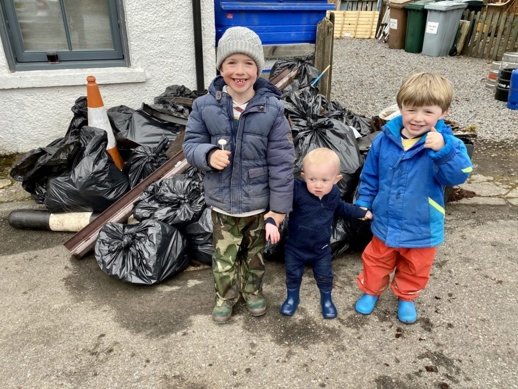 Litter pickers go the  distance