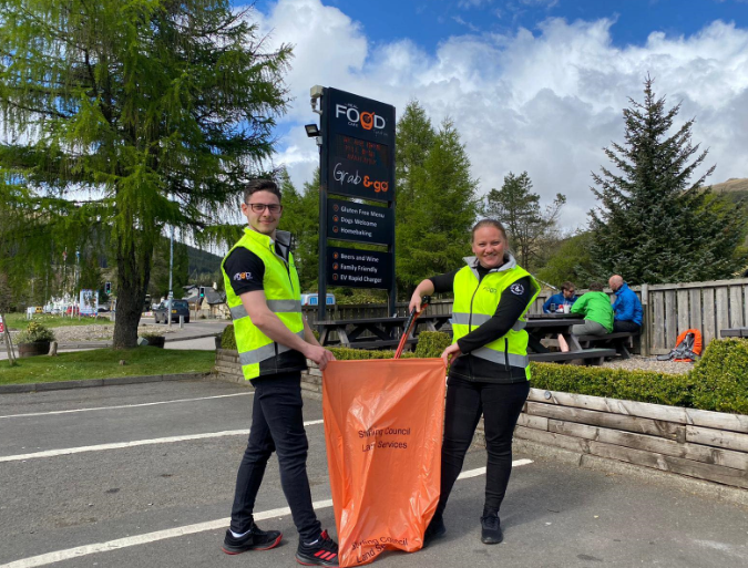 Free fish and chips for litter pickers