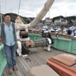 Luke Powell on board the Pellew in Mallaig harbour last week. Photograph: mark Entwistle. Luke 04