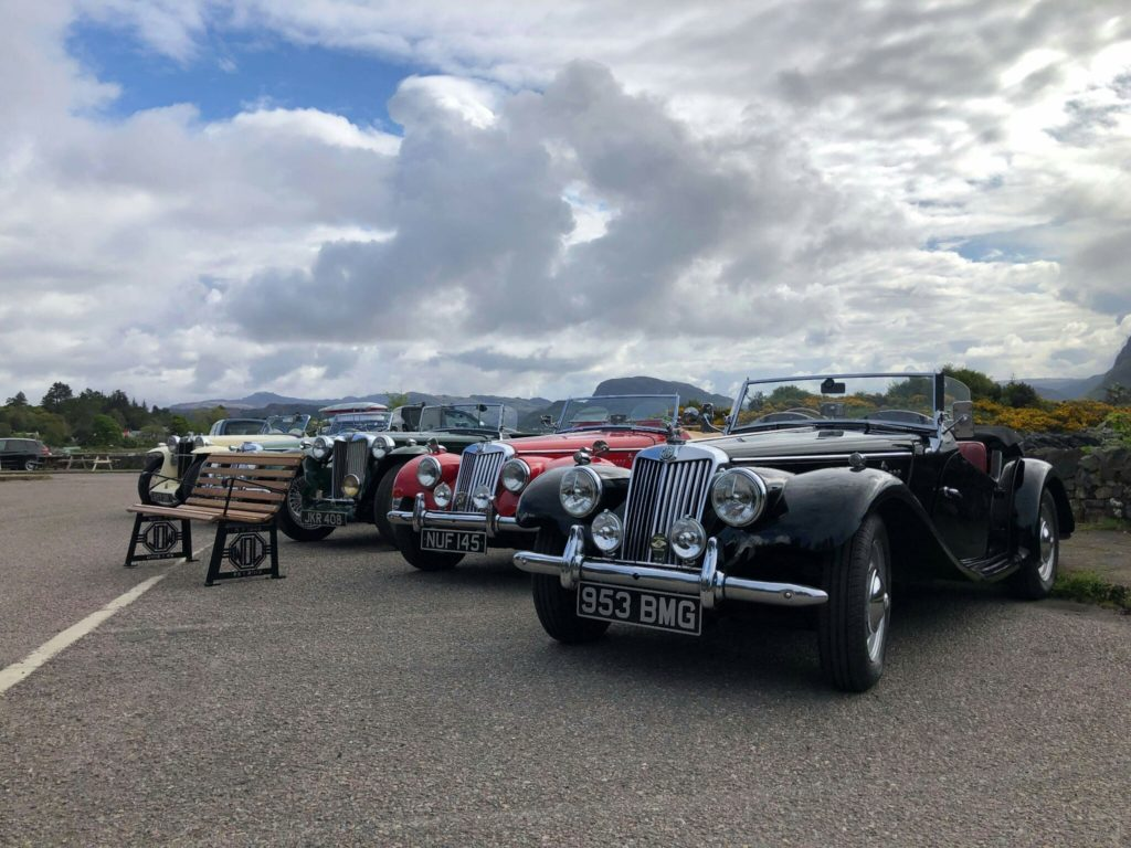 A group of eight MG cars visited Plockton last month. NO F24 MG cars in Plockton
